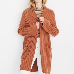 Madewell Piedmont Ribbed Cardigan Sweater